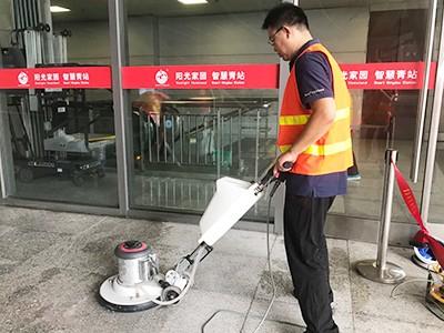 青岛捷立为青岛北站提供石材抗污翻新及不锈钢养护翻新服务
