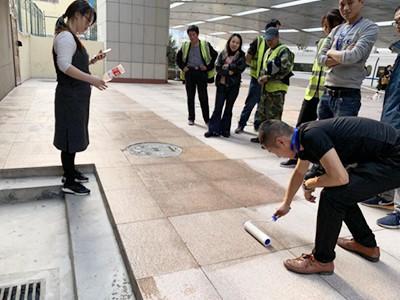 青岛捷立为济南火车站提供石材抗污翻新服务