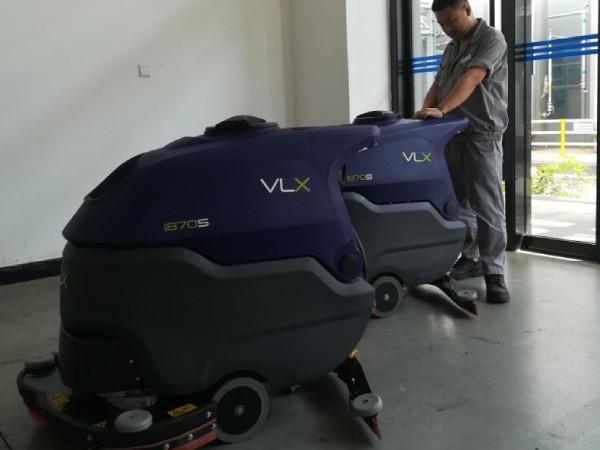 【客户案例】烟台某知名企业采购飞凌VLX手推式洗地机两台